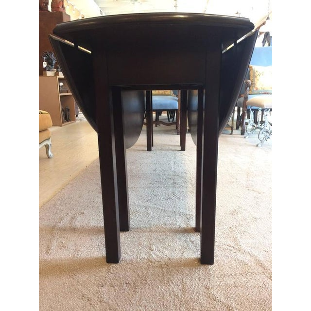 Mahogany Georgian Style Gate Leg Dining Table For Sale - Image 4 of 10