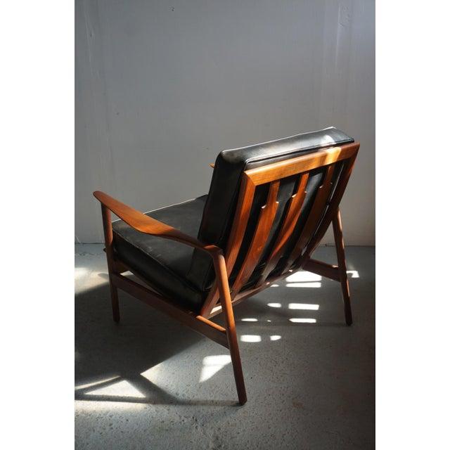 1960s 1960s Danish Modern Kofod Larsen for Selig Walnut Lounge Chair For Sale - Image 5 of 8