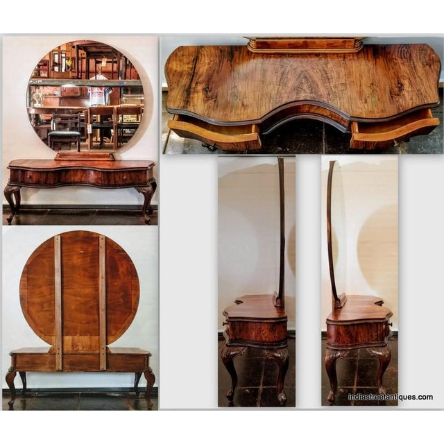 Antique Italian Olive Wood Neo-Rococo Venetian Baroque Six Piece Bedroom Suite For Sale - Image 12 of 13