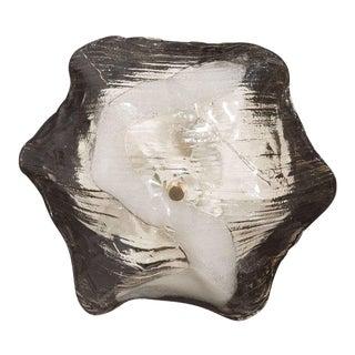 Mid-Century Modernist Sculptural Handblown Glass Flush Mount by J.T. Kalmar For Sale