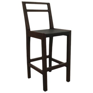 Contemporary Costantini Argentine Rosewood & Wrapped Leather Orianna Stool For Sale