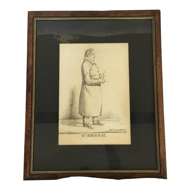 """Vintage """"Mr. Hobhouse"""" Male Dandy Portrait Lithograph - Image 1 of 4"""