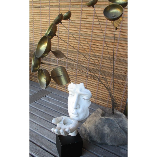 Modernist Sculpture the Kiss Abstract Hand For Sale - Image 5 of 11
