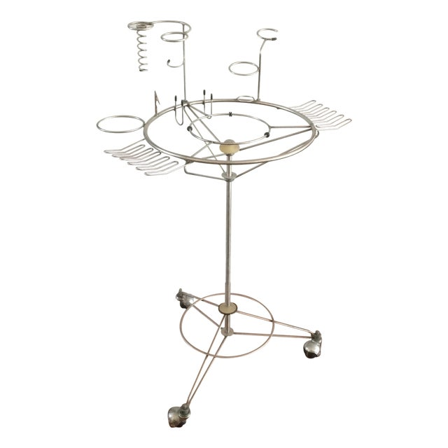 Mid Century Modern Atomic Bar Cart by J. Manic - Image 1 of 9