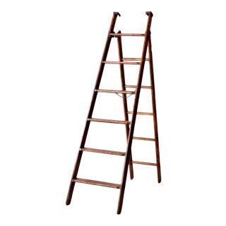Antique Wooden Folding Ladder For Sale
