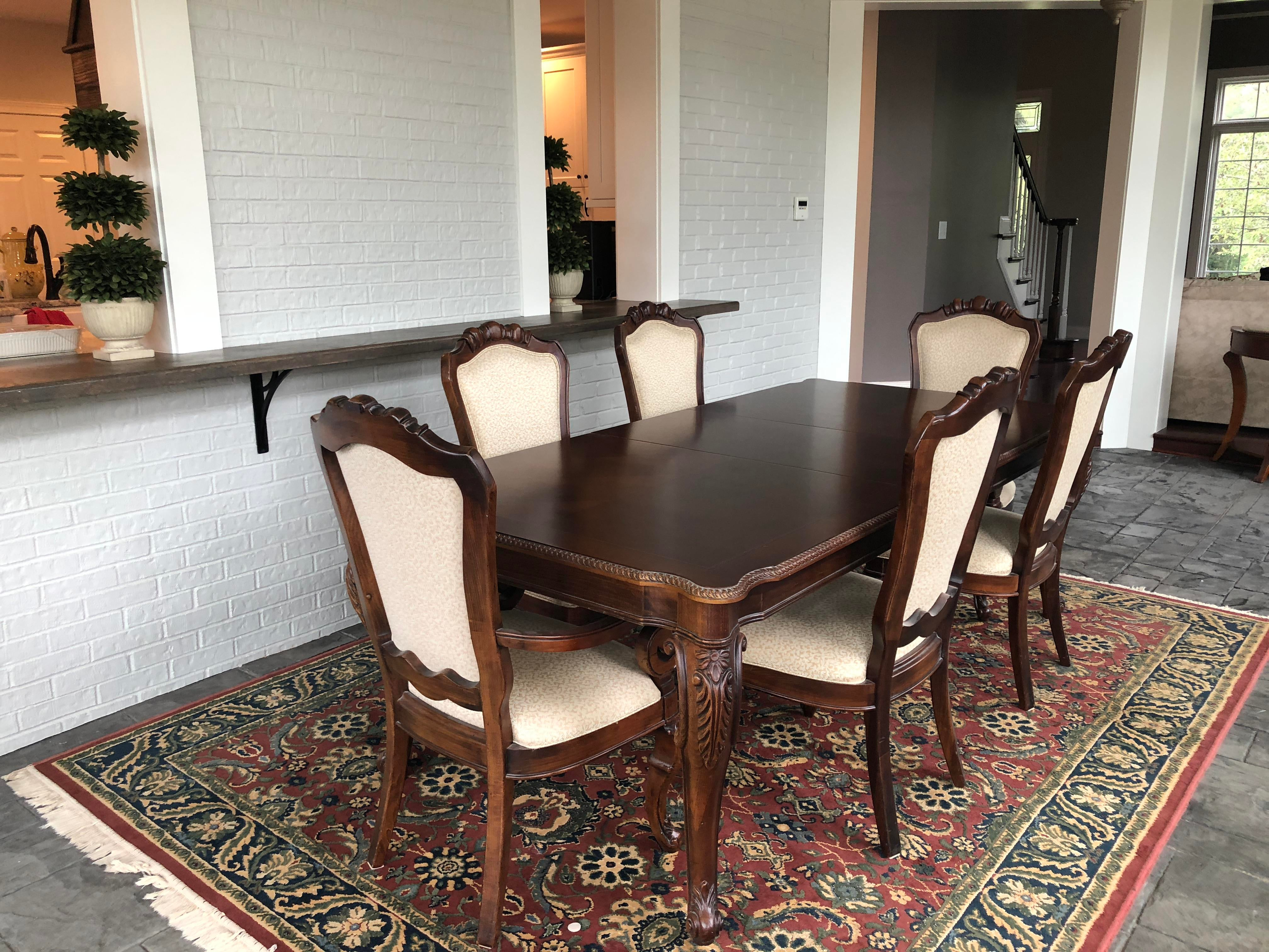 Thomasville Traditional Cherry Dining Room Set For Sale   Image 9 Of 9