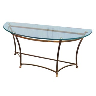 Vintage Weiman Brass & Glass Contour Table