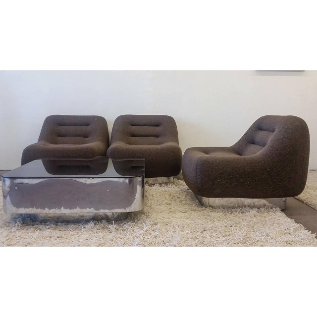 Stow & Davis 1970s M. F. Harty for Stow Davis Tomorrow Sofa Chairs and Table Suite - Set of 4 For Sale - Image 4 of 11