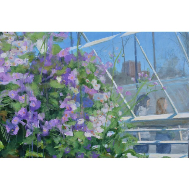 """Stephen Remick """"Meet Me at the Greenhouse"""". Large (48"""" X 48"""") Contemporary Painting by Stephen Remick For Sale - Image 4 of 13"""
