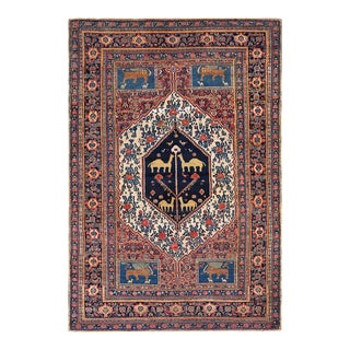 """Antique Persian Senneh Rug 4'8""""x 6'6"""" For Sale"""