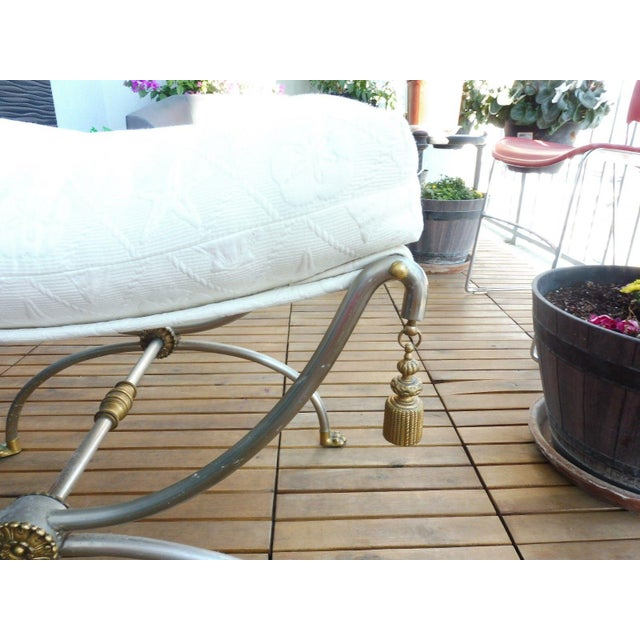 Neoclassical 1970s Neoclassical Bench With Rope Tassels For Sale - Image 3 of 10