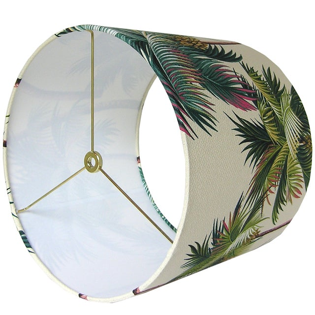 DETAILS: - Custom, handcrafted lampshade - Fabric: Waikiki, a textured, 100% cotton Hawaiian Bark Crepe. Colors include...