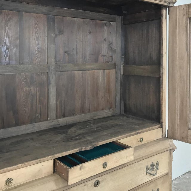 18th Century Louis XVI Period Stripped Dutch Wardrobe For Sale In Dallas - Image 6 of 13