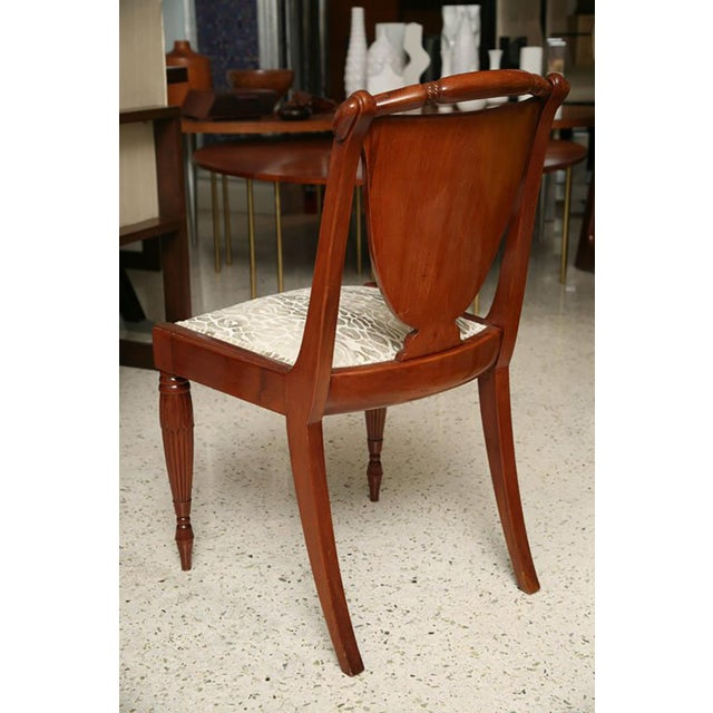 Set of Four Art Deco Side Chairs by Pierre Lahalle, France For Sale - Image 9 of 9