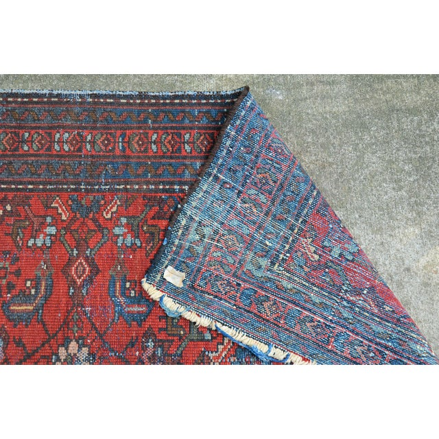 """Early 20th Century Antique Hand Knotted Persian Floral Design Rug - 3'6"""" X 4'8"""" For Sale - Image 5 of 11"""
