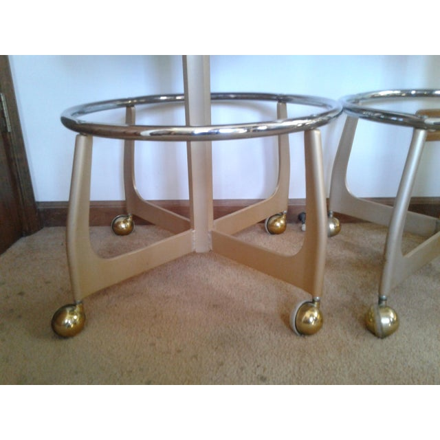 Mid-Century Style Gasser Bar Chairs - a Pair For Sale - Image 10 of 13