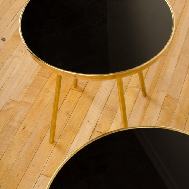 2010s Italian Modern Brass Occasional Tables - a Pair For Sale - Image 5 of 12