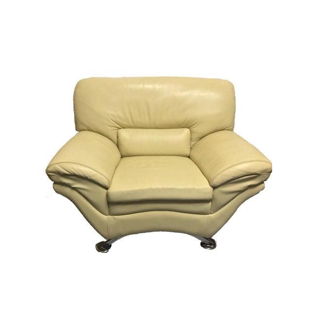 Naugahyde Atomic Club Chair - Image 2 of 10