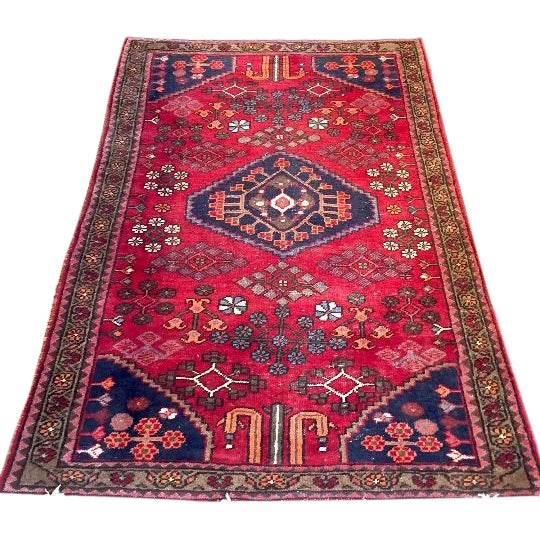 """Semi-Antique Persian Rug - 4'4"""" x 6'4"""" - Image 1 of 6"""
