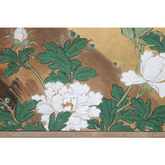Four Panel Gold Tree Japanese Screen For Sale In Los Angeles - Image 6 of 8