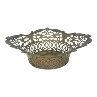 S. Bright and Co Antique Silver Basket For Sale