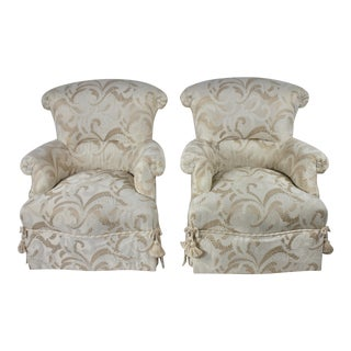 Baker Furniture Traditional French Occasional Chairs - a Pair For Sale