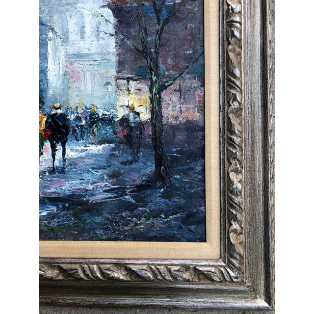 1950s Original Impressionist Mid Century Painting of Venice Framed For Sale - Image 5 of 8