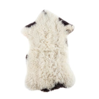 "Contemporary Natural Sheepskin Pelt - 1'9""x3'4"""