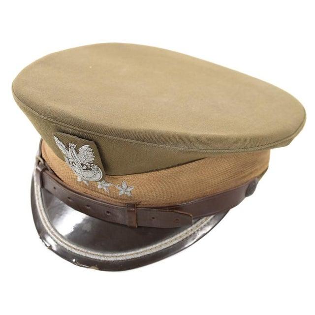 Vintage Polish 3 Stars Military Officer Hat - Image 1 of 9