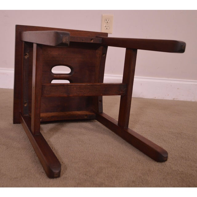 Antique Mission Style Mahogany Taboret Side Table For Sale - Image 9 of 13