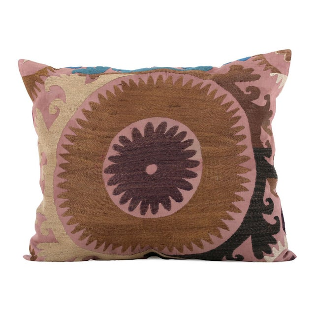 Vintage Cotton Embroidered Pillow - Image 1 of 4