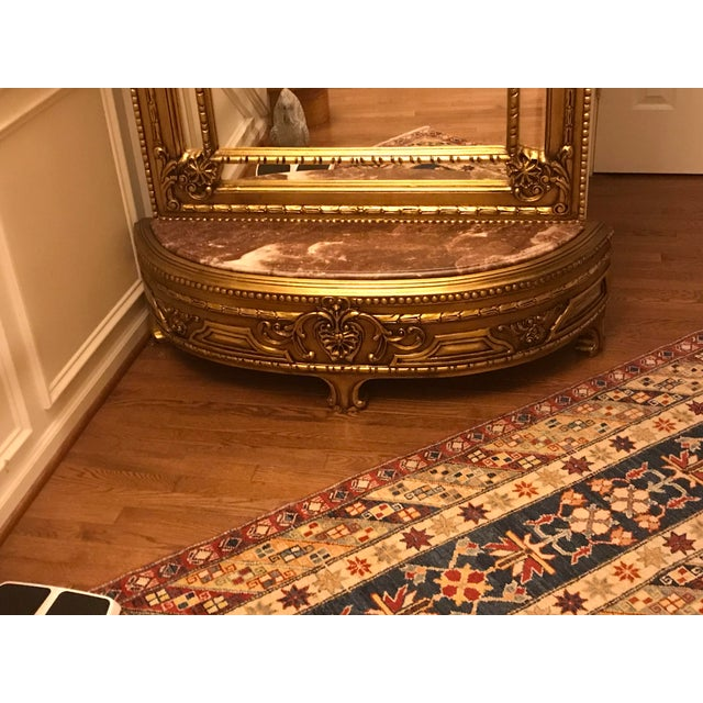 French Louis XV Console With Mirror For Sale - Image 4 of 7
