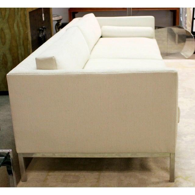 Mid Century Modern B&b Italia Chrome Base Sofa Italy 1970s Baughman Era For Sale In Detroit - Image 6 of 10
