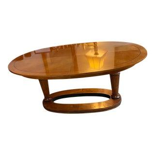 Biedermeier Style Oval Dining Table For Sale