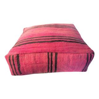 Fuchsia Moroccan Kilim Floor Pillow