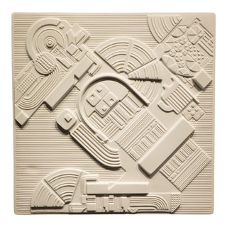 Eduardo Paolozzi Plaque for Rosenthal For Sale