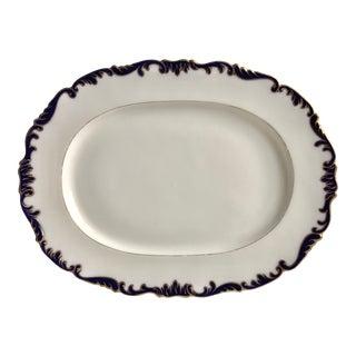 "English Cauldon 18"" Gilt/Cobalt Platter-Brown, Westhead & Moore For Sale"