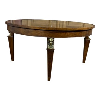 Vintage Regency Style Rotating Lazy Susan Coffee Table/Cocktail Table For Sale