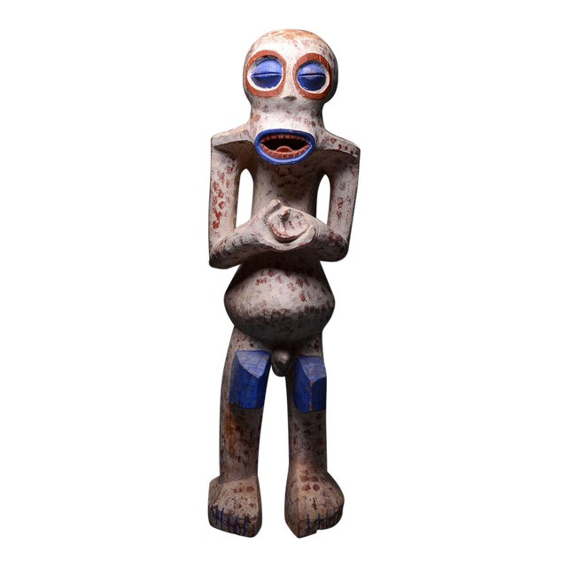 Bangwa Wooden Polychrome Sculpture For Sale