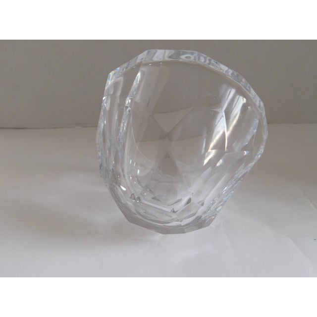 Orrefors Sweden Small Cut Crystal Bowl For Sale - Image 10 of 12