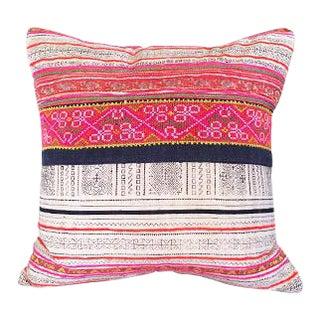 Vintage Embroidered Thai Pillow For Sale