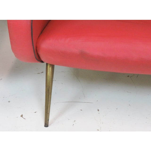 Zanuso Style Metal Leg Lounge Chairs - Pair - Image 2 of 6