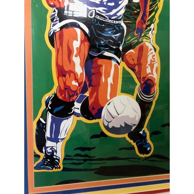 1990s 1990s Vintage Original Atlanta Summer Olympics Framed Soccer Poster For Sale - Image 5 of 10