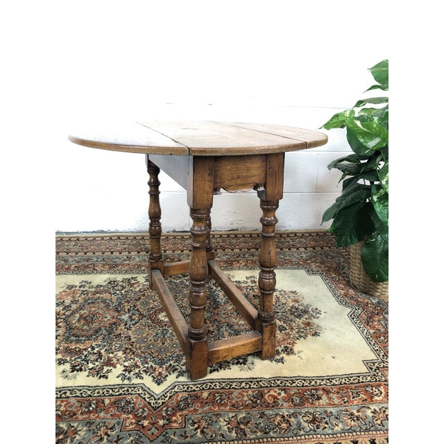 Mid 20th Century 20th Century Folk Art Drop Leaf Table For Sale - Image 5 of 11