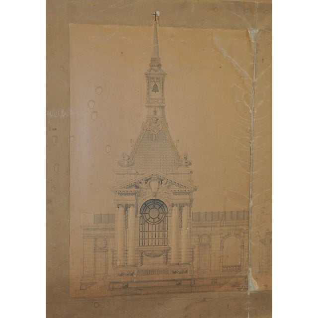Traditional 18th/19th Century Master Architectural Drawings For Sale - Image 3 of 11