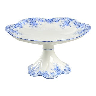 Shelley Dainty Blue Small Pedestal Cake Stand