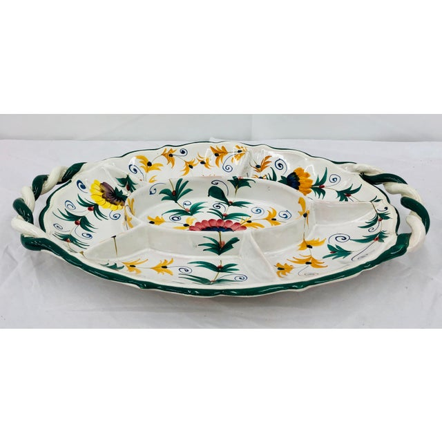 Vintage Hand Crafted Italian Ceramic Serving Platter For Sale - Image 4 of 13