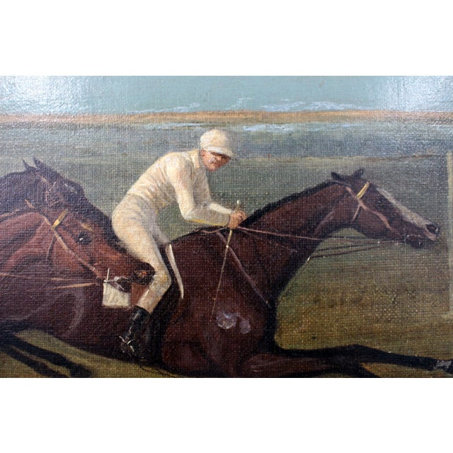 19th Century Antique Horse Racing Painting For Sale - Image 5 of 7