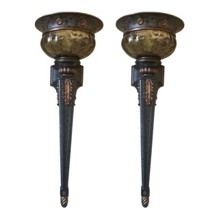 Minka Lavery Sanguesa Collection Torch Wall Sconces - a Pair For Sale