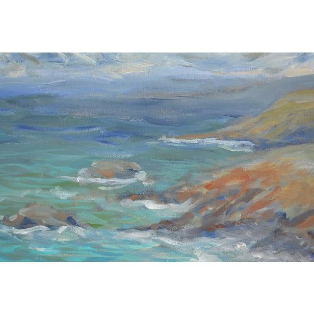 Impressionism Coastline Impressionist Acrylic Painting For Sale - Image 3 of 6